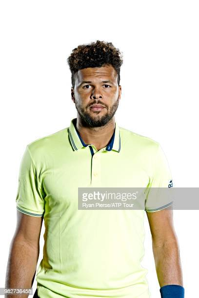JoWilfried Tsonga of France poses for portraits during the Australian Open at Melbourne Park on January 13 2018 in Melbourne Australia