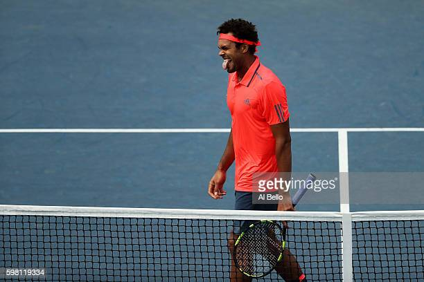 JoWilfried Tsonga of France reacts against James Duckworth of Australia during his second round Men's Singles match on Day Three of the 2016 US Open...