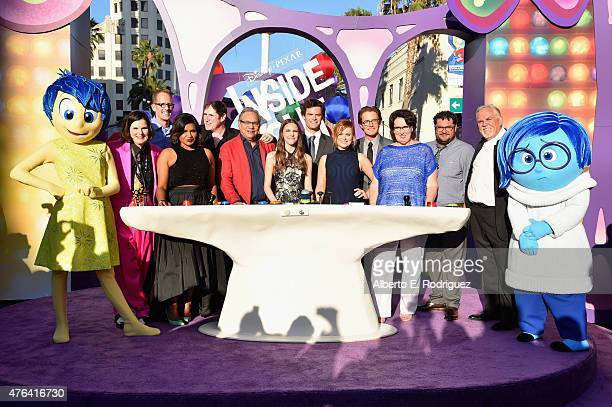 Joy, actress Paula Poudstone, director/writer/screenwriter Pete Docter, actors Mindy Kaling, Richard Kind, Lewis Black, Kaitlyn Dias, Bill Hader, Amy...