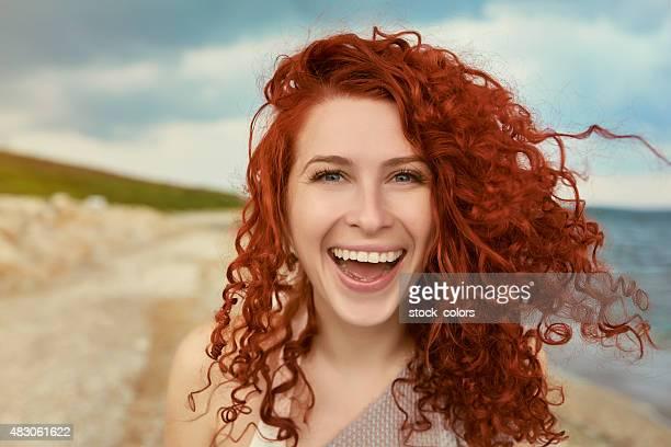 Joie et de la liberté sur la plage