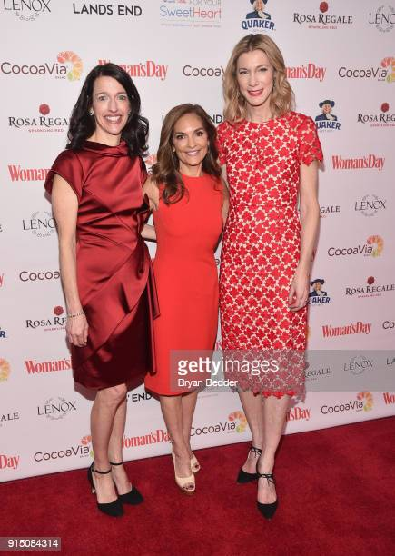 Joy Bauer Publisher CRO Kassie Means and Woman's Day Editor in Chief Susan Spencer attend the Woman's Day Celebrates 15th Annual Red Dress Awards on...