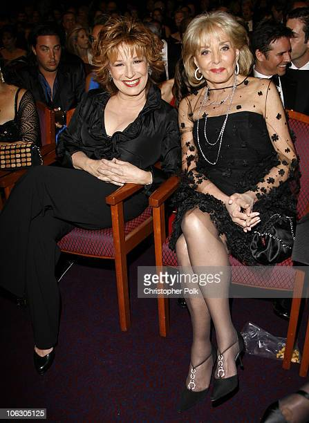 Joy Behar and Barbara Walters during 34th Annual Daytime Emmy Awards Backstage and Audience at Kodak Theatre in Hollywood California United States
