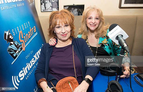 Joy Behar and Julie Budd attend the SiriusXM Sinatra 100 celebration at Patsy's on December 12 2015 in New York City