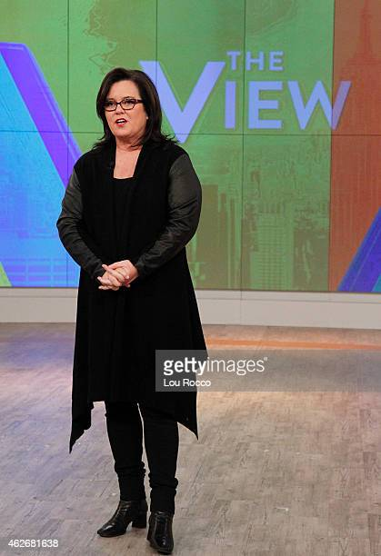 THE VIEW Joy Behar and Mario Cantone are the guest cohosts Friday January 30 2015 on Walt Disney Television via Getty Images's The View The View airs...