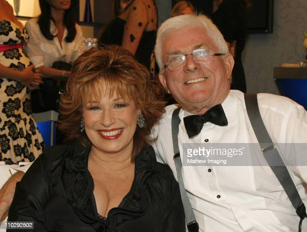 Joy Behar and Phil Donahue during 34th Annual Daytime Emmy Awards Backstage and Audience at Kodak Theatre in Hollywood California United States