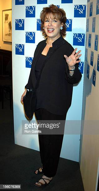 Joy Behar during Comedy Tonight A Night of Comedy to Benefit the 92nd Street Y at 92nd Street Y in New York City New York United States