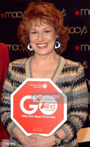 Joy Behar during Joy Behar and The American Heart Association Kick Off American Heart Month with Go Red for Women January 31 2007 at Macy's Herald...