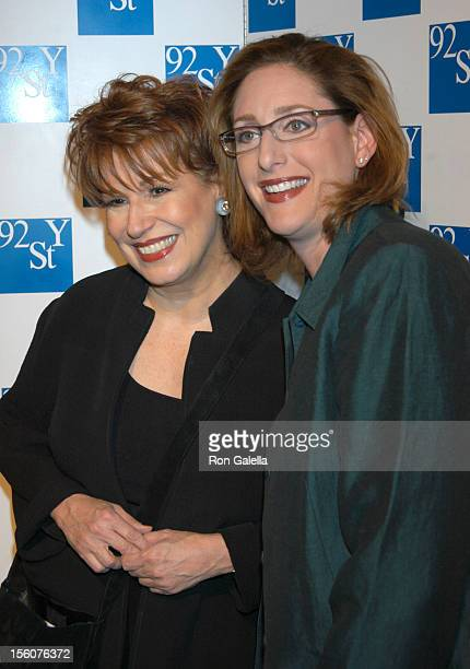 Joy Behar Judy Gold during Comedy Tonight A Night of Comedy to Benefit the 92nd Street Y at 92nd Street Y in New York City New York United States