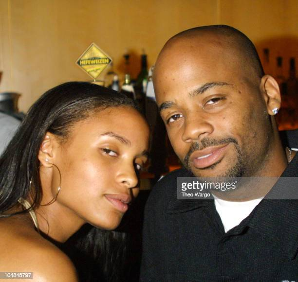 Joy Bryant and Damon Dash during RICA Benefit Dinner and Auction at Lotus in New York City in New York City New York United States