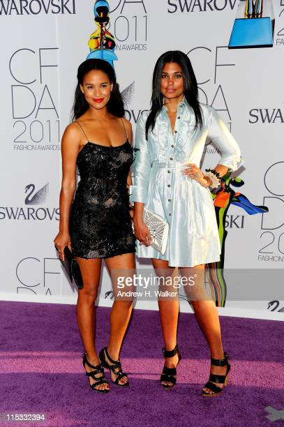 Joy Bryant and designer Rachel Roy attend the 2011 CFDA Fashion Awards at Alice Tully Hall Lincoln Center on June 6 2011 in New York City