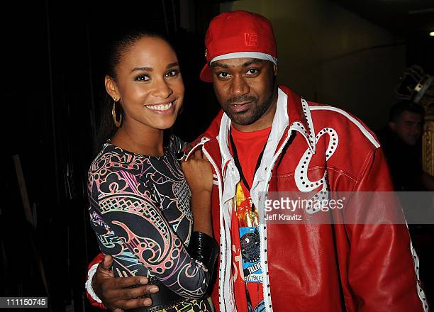 Joy Bryant and Ghostface Killah attend the 2008 VH1 Hip Hop Honors awards show at Hammerstein Ballroom on October 2 2008 in New York City