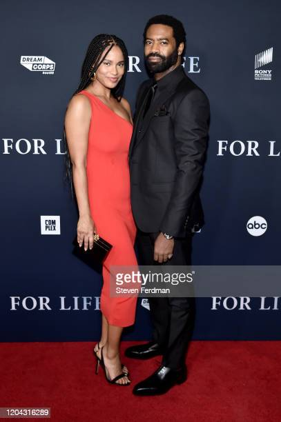 Joy Bryant and Nicholas Pinnock attends the New York Premiere of ABC's For Life at Alice Tully Hall Lincoln Center on February 05 2020 in New York...