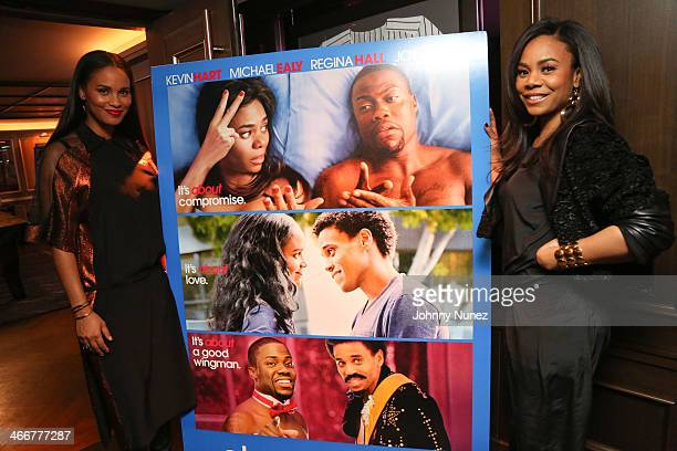 Joy Bryant and Regina Hall attend the 'About Last Night' screening dinner on February 3 2014 in New York City