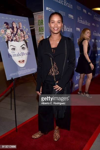 Joy Bryant attends the premiere of IFC Films' 'The Female Brain' at ArcLight Hollywood on February 1 2018 in Hollywood California