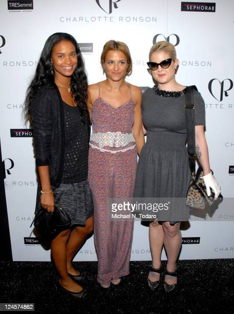 Joy Bryant, Charlotte Ronson and Kelly Osbourne attends the Charlotte Ronson Spring 2012 fashion show during Mercedes-Benz Fashion Week at The Stage...