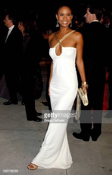 Joy Bryant during 2005 Vanity Fair Oscar Party Arrivals at Mortons in Los Angeles California United States