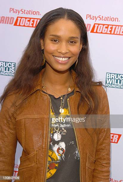 Joy Bryant during BANDtogether Presented by PlayStation Arrivals at Smashbox Studios in Culver City California United States
