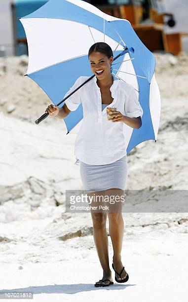 Joy Bryant during CoverGirl Video Shoot June 9 2006 in 29 Palms California United States