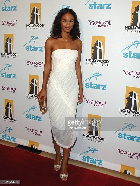 Joy Bryant during Hollywood Film Festival 10th Annual Hollywood Awards Arrivals at Beverly Hilton Hotel in Beverly Hills California United States