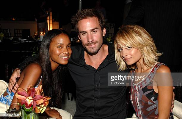 Joy Bryant Joseph Fiennes and Nicole Richie during Glamour Magazine Dinner Party at L'Ermitage at L'Ermitage Hotel in Beverly Hills California United...