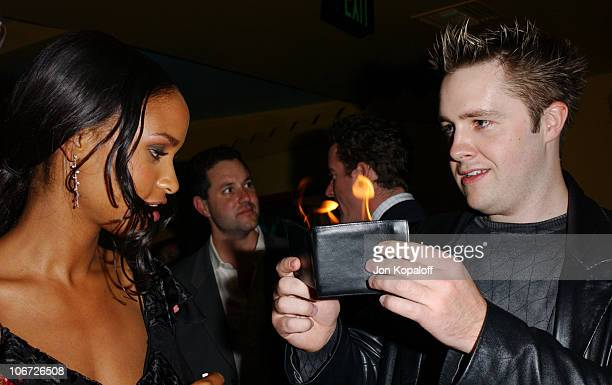 Joy Bryant & Keith Barry during Playstation 2 Hosts the Movieline Young Hollywood Awards After-Party in Los Angeles, California, United States.