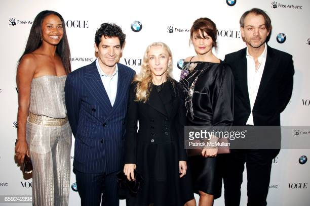 Joy Bryant Tom Florio Franca Sozzani Helena Christensen and Adrian Van Hooydonk attend VOGUE and BMW party to celebrate the new 2009 BMW 7 Series...