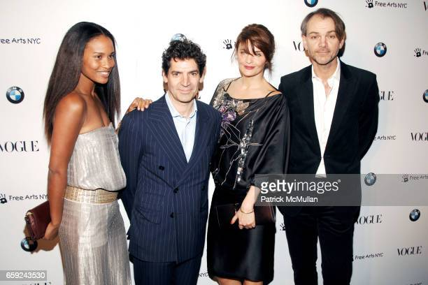 Joy Bryant Tom Florio Helena Christensen and Adrian Van Hooydonk attend VOGUE and BMW party to celebrate the new 2009 BMW 7 Series with Free Arts NYC...