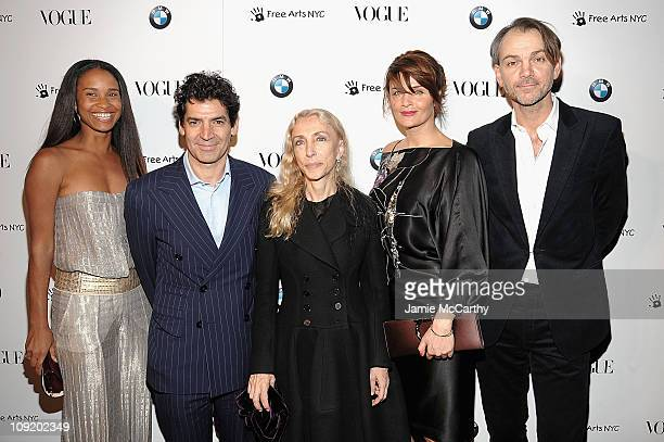 Joy Bryant Vogue publisher Tom FlorioVogue Italia Editor Franca Sozzani Helena Christensen and Adrian Van HooydonkBMW design attend the All New 2009...