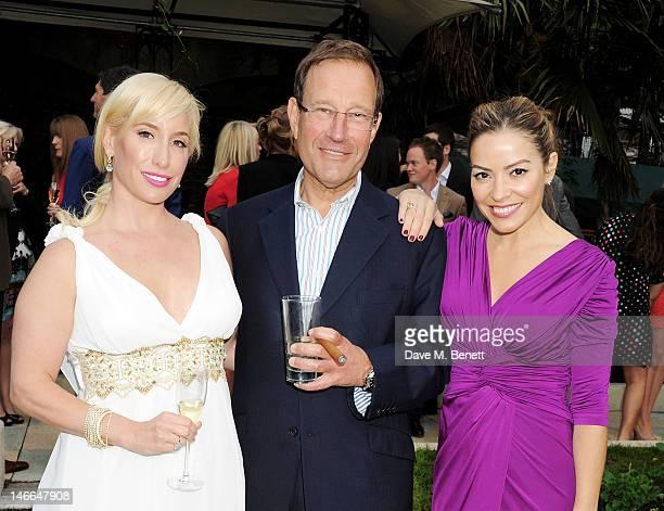 Joy Canfield Richard Desmond and Elen Rivas attend the WTA PreWimbledon Party presented by Dubai Duty Free at Kensington Roof Gardens on June 21 2012...
