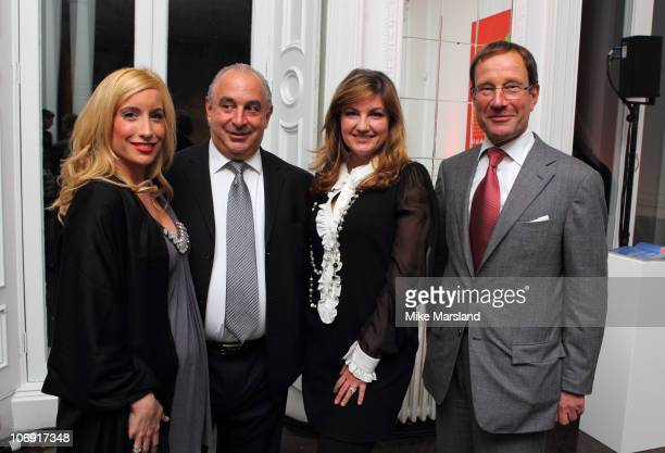 Joy Canfield Sir Philip Green Karren Brady and Richard Desmond attends the 'How To Feed A Man' book launch party for at Il Bottaccio on November 16...