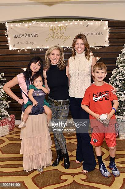 Joy Cho Coco Cho Jane Buckingham Candace Nelson and Charlie Nelson attend the Baby2Baby Holiday Party Presented By Tiny Prints At Montage Beverly...
