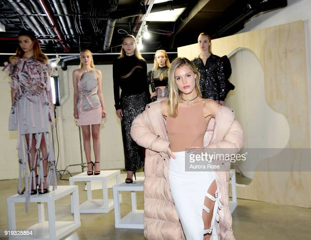 Joy Corrigan attends Arianne Elmy FW18 Presentation at 151 Gallery on February 14, 2018 in New York City.