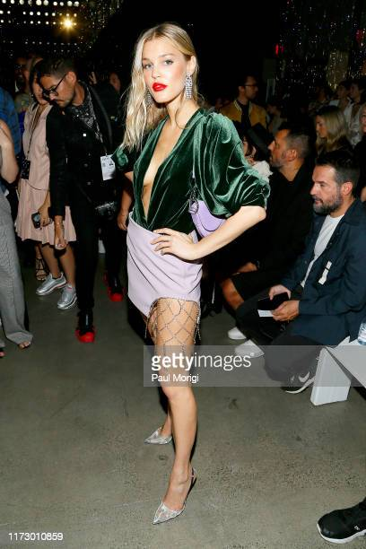 Joy Corrigan attends the Area front row during New York Fashion Week: The Shows at Gallery I at Spring Studios on September 07, 2019 in New York City.