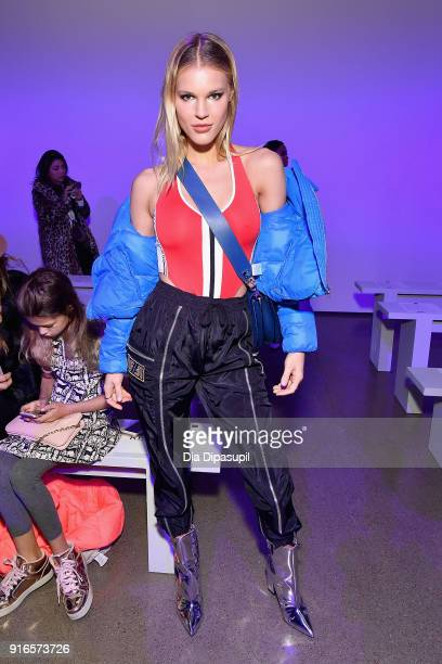 Joy Corrigan attends the Dan Liu fashion show during New York Fashion Week: The Shows at Gallery II at Spring Studios on February 10, 2018 in New...