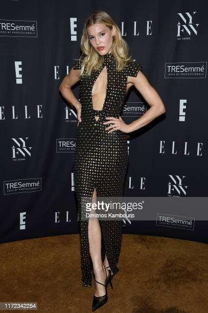 Joy Corrigan attends the E ELLE and IMG NYFW kickoff party hosted by TRESemmé on September 04 2019 in New York City