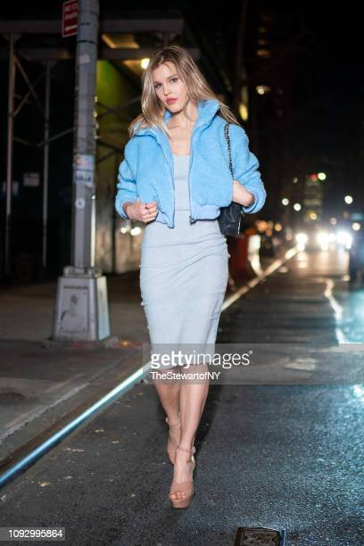 Joy Corrigan attends the Revival Swimwear launch at Yara in Midtown on January 11 2019 in New York City