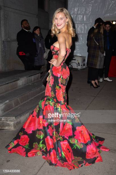 Joy Corrigan outside the amFAR Gala held at Cipriani Wall St on February 5, 2020 in New York City.