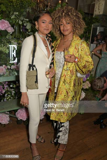 Joy Crookes and guest celebrate The ELLE List in association with MAGNUM ice cream on June 19 2019 in London England