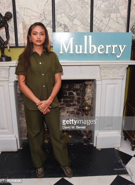 Joy Crookes attends Mulberry's 'My Local' Festive Event on November 26 2019 in London England