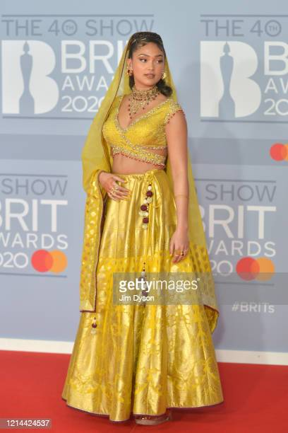 Joy Crookes attends The BRIT Awards 2020 at The O2 Arena on February 18 2020 in London England