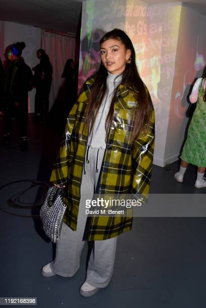 Joy Crookes attends the MyBeautyBrand launch with an exclusive event in partnership with Dazed Beauty on December 05 2019 in London England
