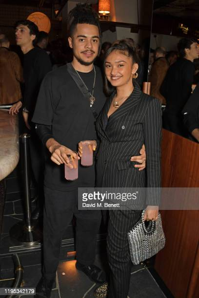 Joy Crookes attends the Vanity Fair EE Rising Star Award Party ahead of the 2020 EE BAFTAs at The Standard London on January 22 2020 in London England