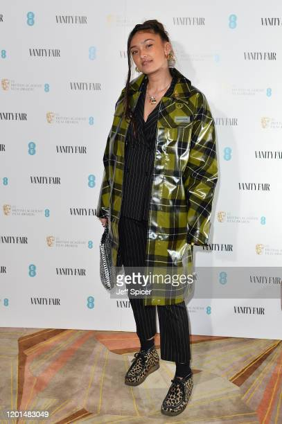 Joy Crookes attends the Vanity Fair EE Rising Star BAFTAs Pre Party at The Standard on January 22 2020 in London England