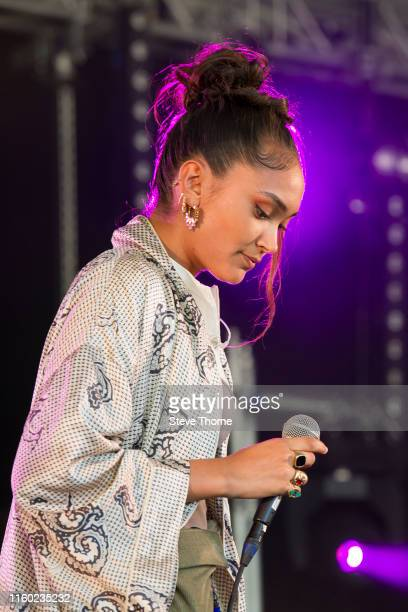 Joy Crookes performs during Cornbury Festival 2019 on July 05 2019 in Oxford England