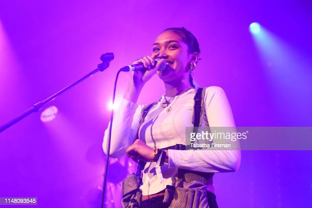 Joy Crookes performs on the Fender Next stage during the Great Escape Festival at Old Market on May 09 2019 in Brighton England