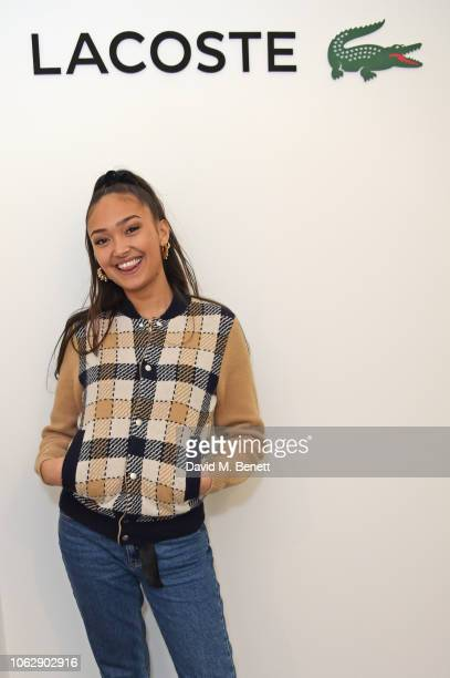 Joy Crookes poses in the Lacoste VIP Lounge during SemiFinal Day of the 2018 Nitto ATP World Tour Tennis Finals at The O2 Arena on November 17 2018...