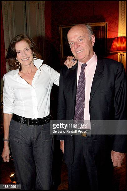"""Joy de Rohan Chabot and her husband Count Jean de Rohan Chabot at Opening Exhibition Of Joy De Rohan Chabot """"Les Jardins Immobiles"""" At Musee..."""