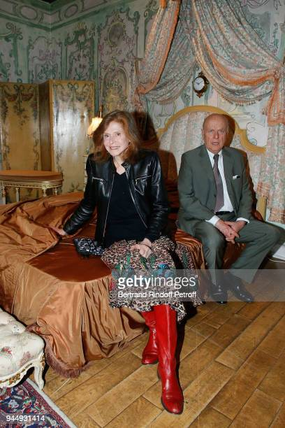 """Joy de Rohan Chabot and her husband Jean de Rohan Chabot attend """"Once Upon a Time, The Ritz Paris"""" Auction Coktail Party at Artcurial on April 11,..."""