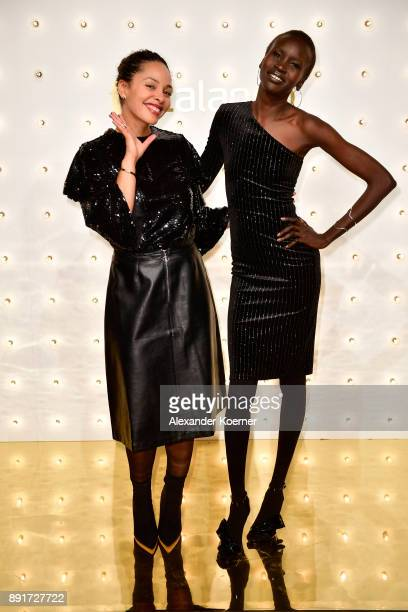 Joy Denalane and Alek Wek attend the Zalando Xmas bash hosted by Alek Wek at Haus Ungarn on December 13 2017 in Berlin Germany