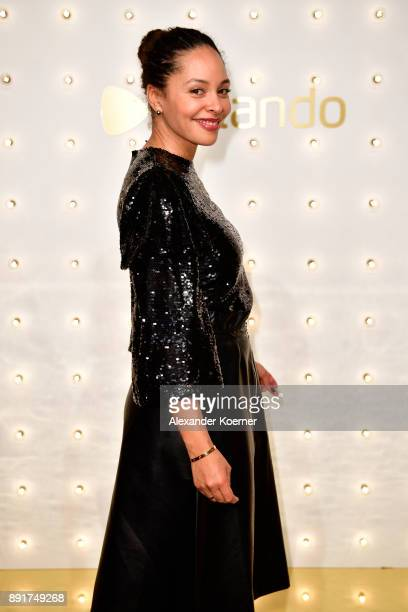 Joy Denalane attends the Zalando xmas bash hosted by Alek Wek at Haus Ungarn on December 13 2017 in Berlin Germany